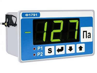 Прибор для измерений давления воздуха. Электронный тягонапоромер Ф1791 фото